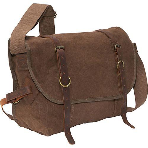 #MessengerBags, #Rothco - Rothco Vintage Explorer Messenger Bag Brown - Rothco Messenger Bags