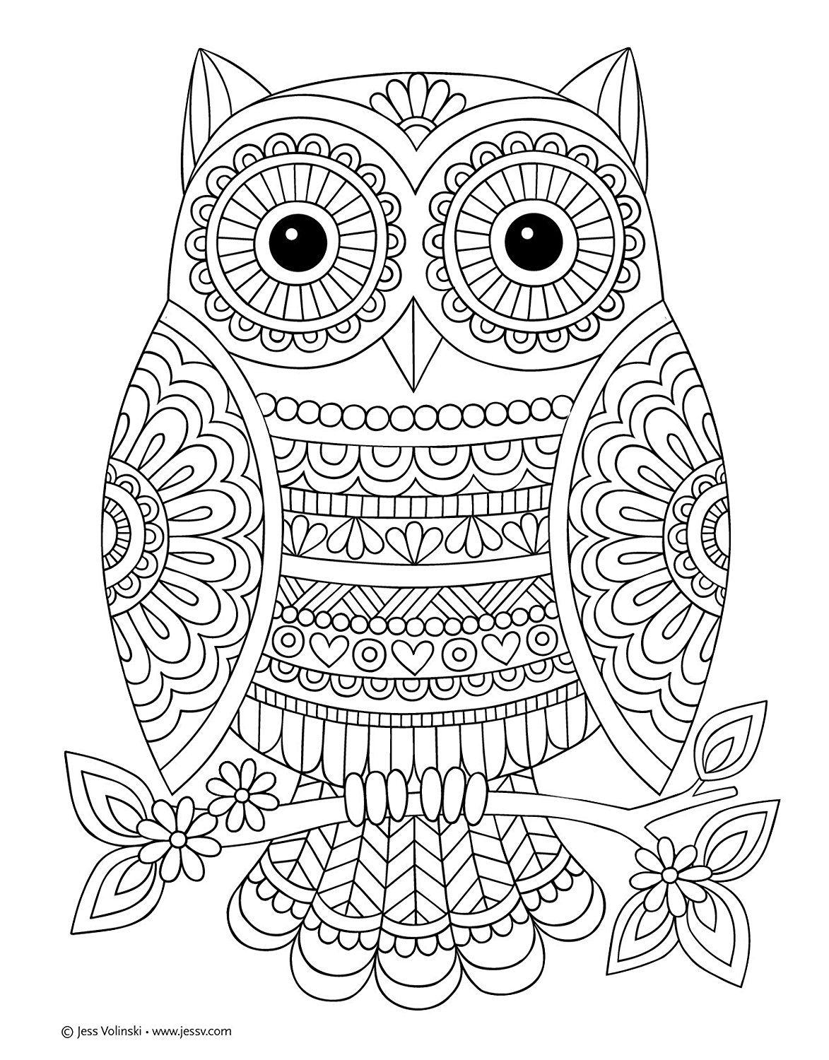Pattern Coloring Books Owl Coloring Pages Animal Coloring Pages Coloring Books