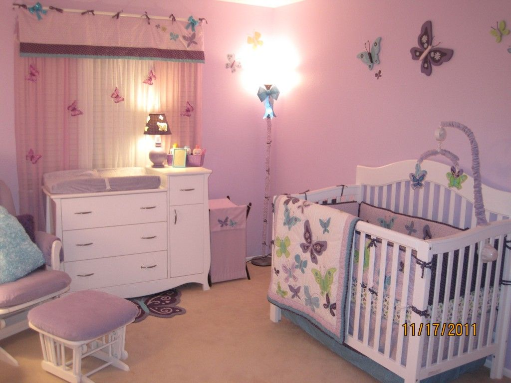 Beautiful Butterflies Nursery | Baby girl nursery room, Baby girl