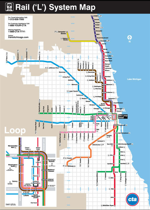Map of the 'L'   Chicago map, Train map, System map Chicago On Usa Map on chicago illinois map, chicago zip code map, chicago cta map, chicago neighborhood map, airport chicago il map, chicago topographic map, chicago map usa with states, chicago map outline, chicago crime map, chicago on google maps, chicago united states map, chicago university on map, chicago on north america map, chicago loop map, lake michigan chicago map, chicago on world map, chicago street map, chicago on illinois,