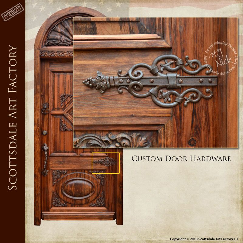 Designer Door Hardware, Hand Crafted From Solid Wrought Iron, Designed From  Antiquity Using Historic Record To Recreate Door Hinge In Same Hand And ...