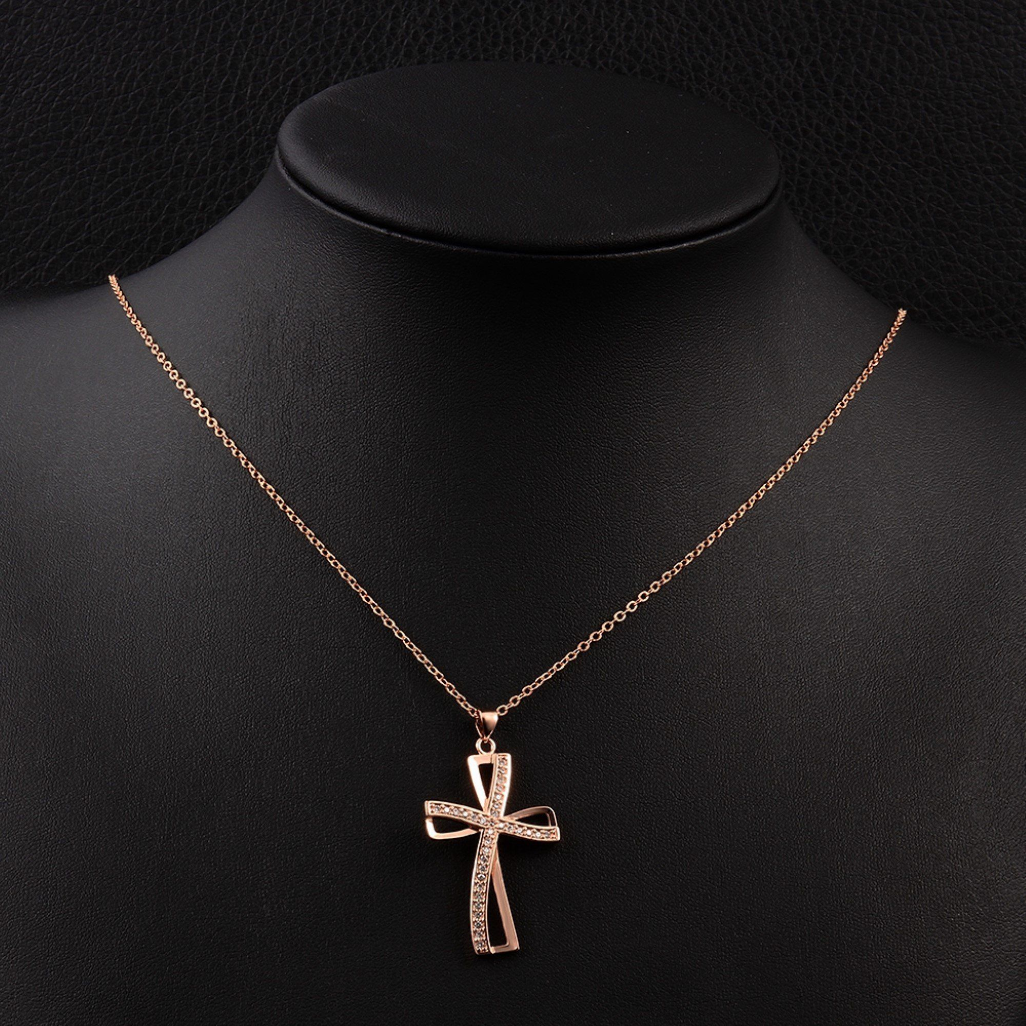 CS-DB Jewelry Silver Cross Chain Charm Pendants Necklaces