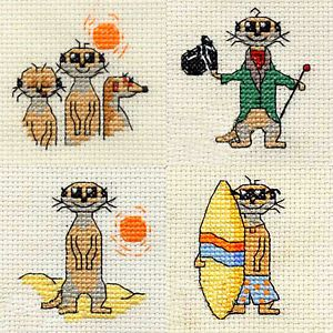 Mouseloft Meerkats From The Mouseloft Stitchlet And Mouseloft Tiddlers Series! | eBay