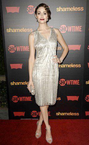 Shameless Emmy Rosum Ralph Lauren Fancy Dresses Dresses Celebrity Style Inspiration