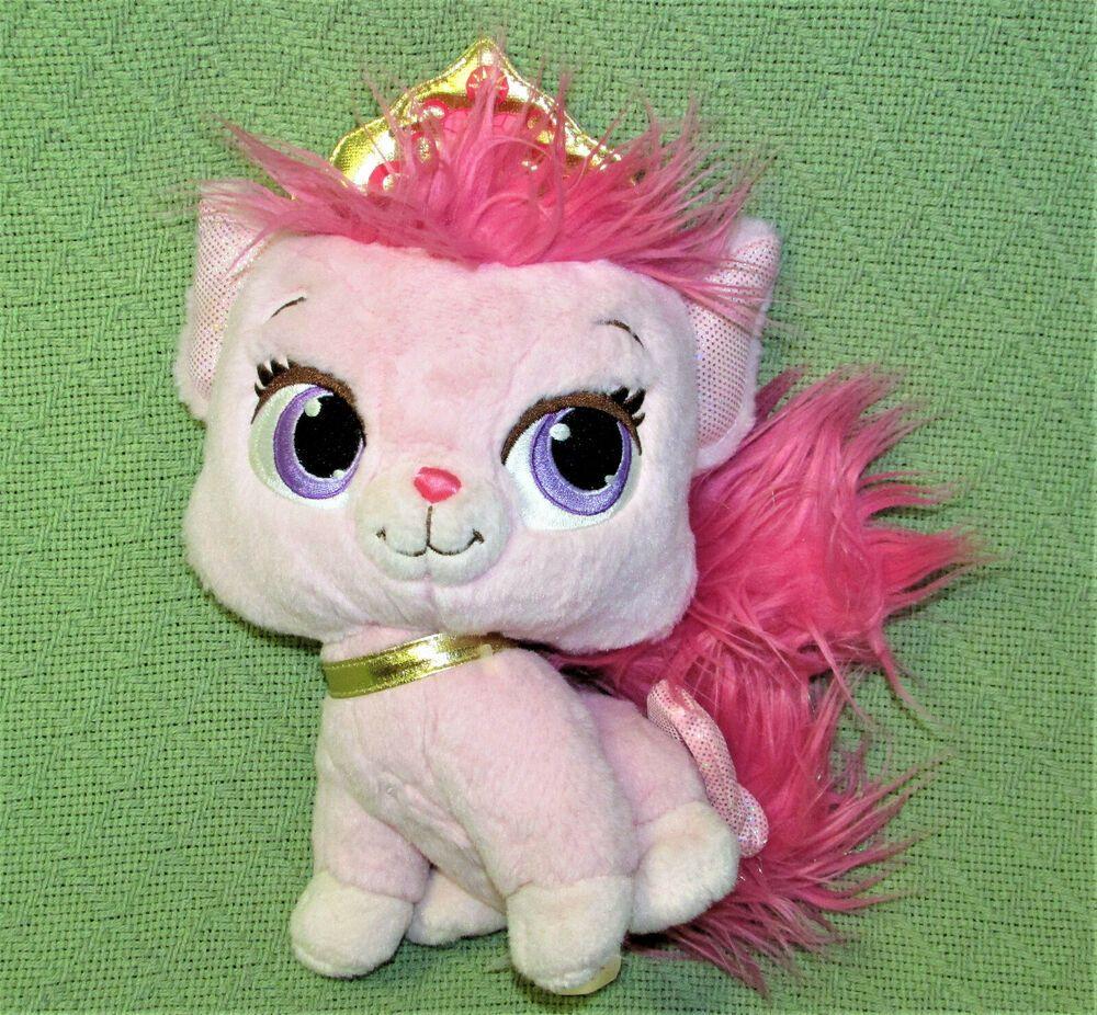 Details About Disney Palace Pets Pink Beauty Cat Gold Crown Princess Aurora 10 Plush Animal Palace Pets Plush Animals Princess Aurora