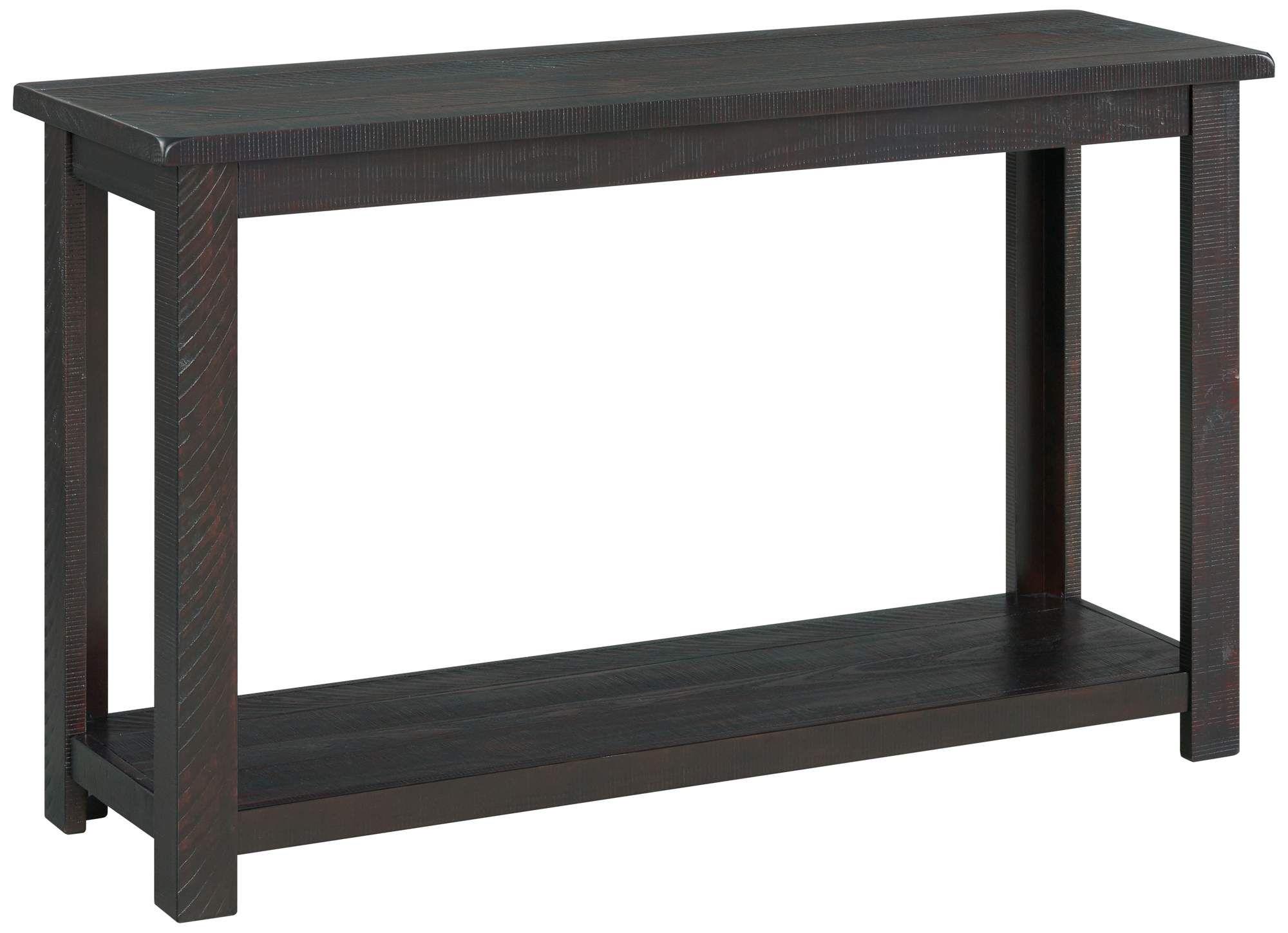Ventura 48 Wide Espresso Rectangular Wood Sofa Table Di 2020