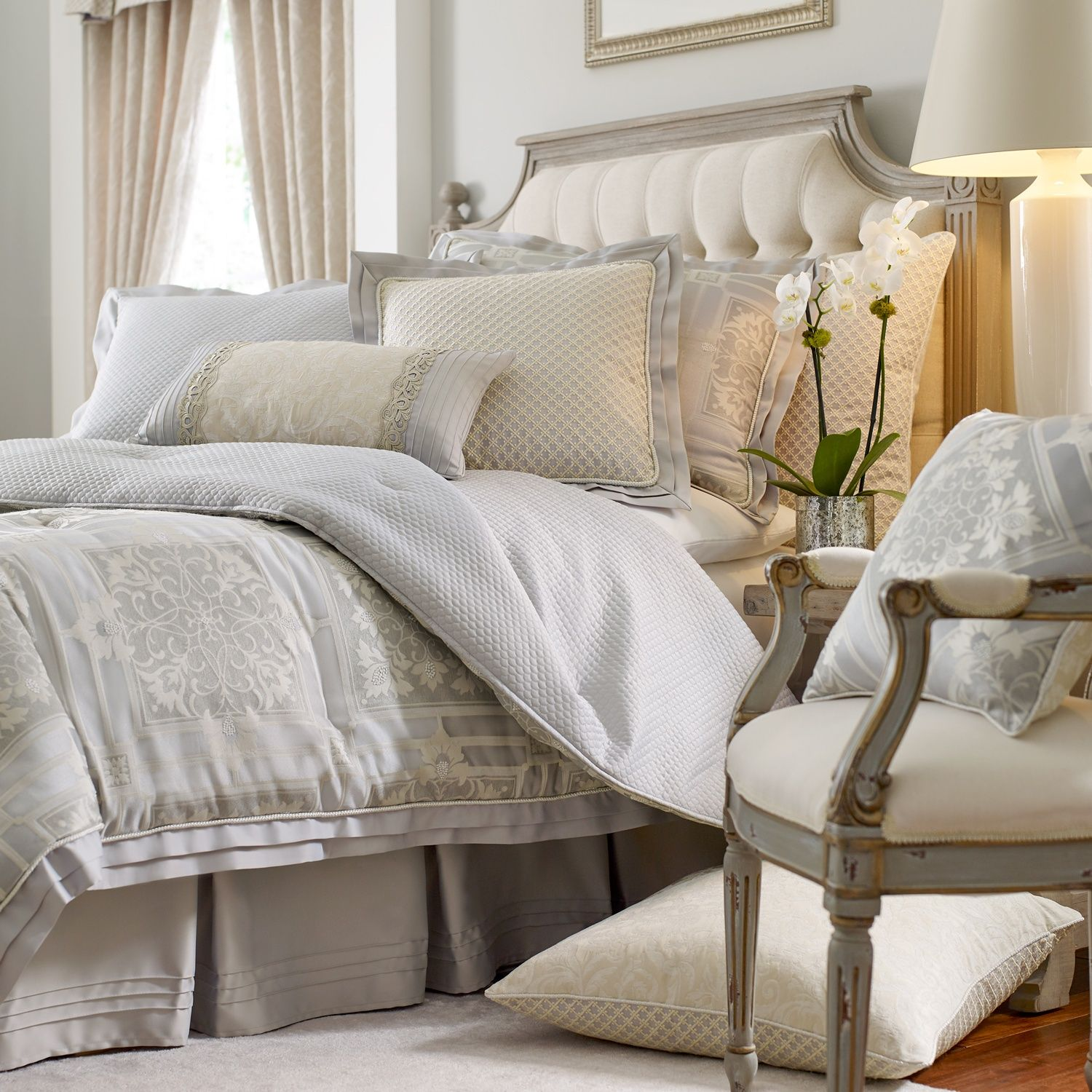 the rowling bedding collection by croscill couture features an the rowling bedding collection by croscill couture features an architectural style type medallion jacquard pattern
