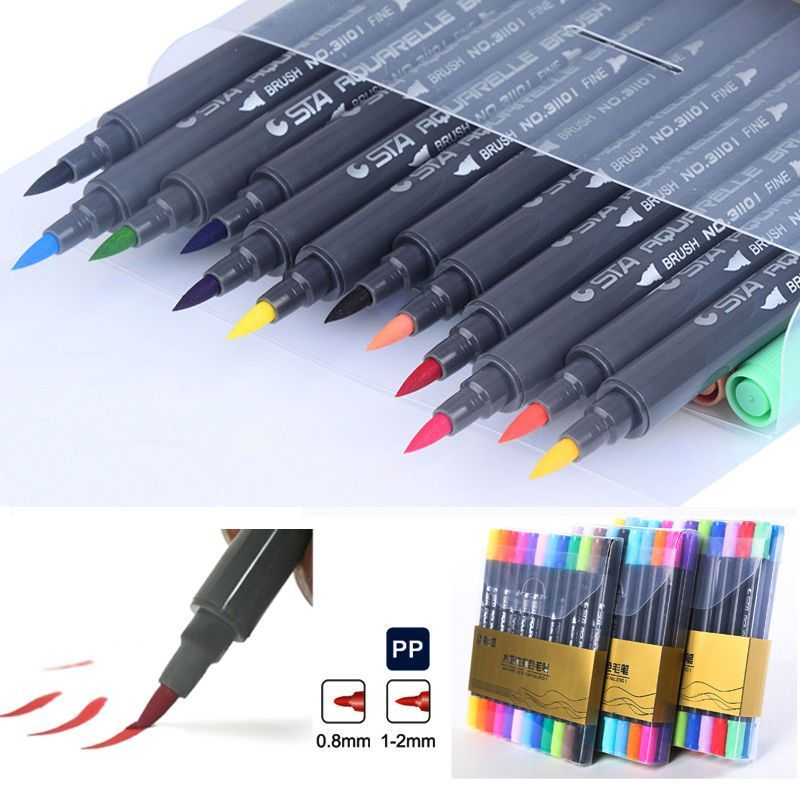 Sta Colors Brush Watercolor Pen Cartoon Graffiti Art Sketch