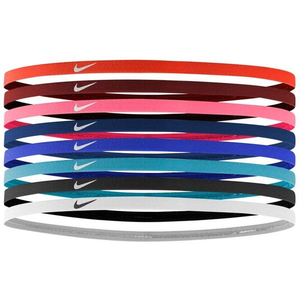 793802b074e47 Nike 8-Pk. Skinny Headbands ($12) ❤ liked on Polyvore featuring ...