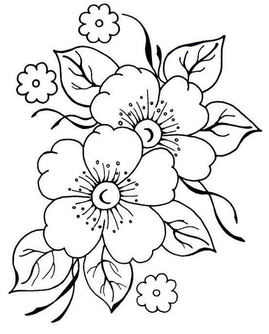 Megaimagens Com Embroidery Flowers Coloring Pages Embroidery Designs