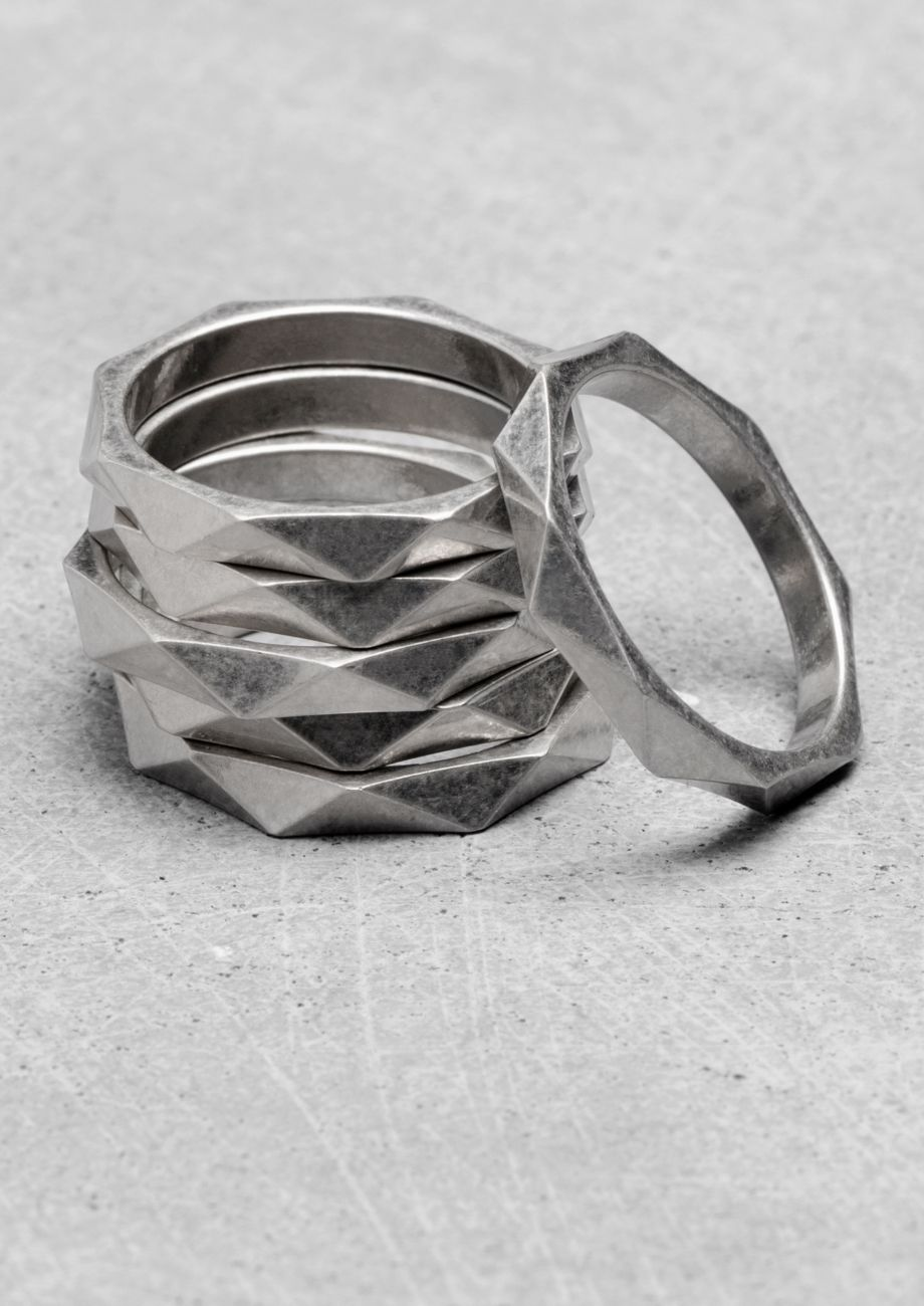 & Other Stories   Bezeled Multi-Ring