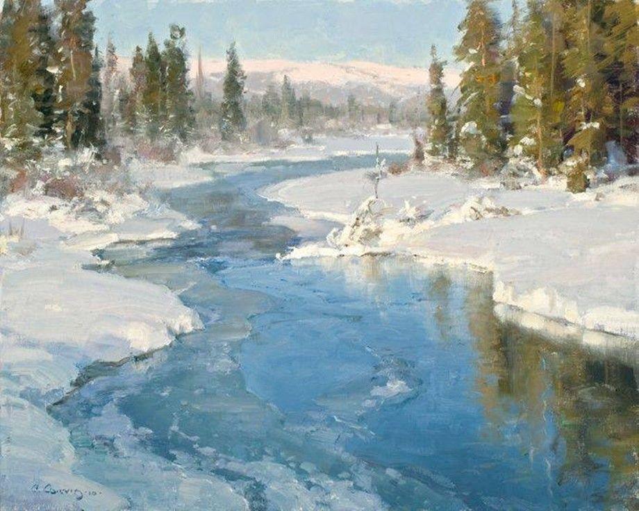 """Foto aus dem Album """"Der Charme des Winters in den Gemälden berühmter Künstler"""" auf"""