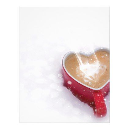 Valentines Day Valentine Love Coffee Heart Mug Letterhead