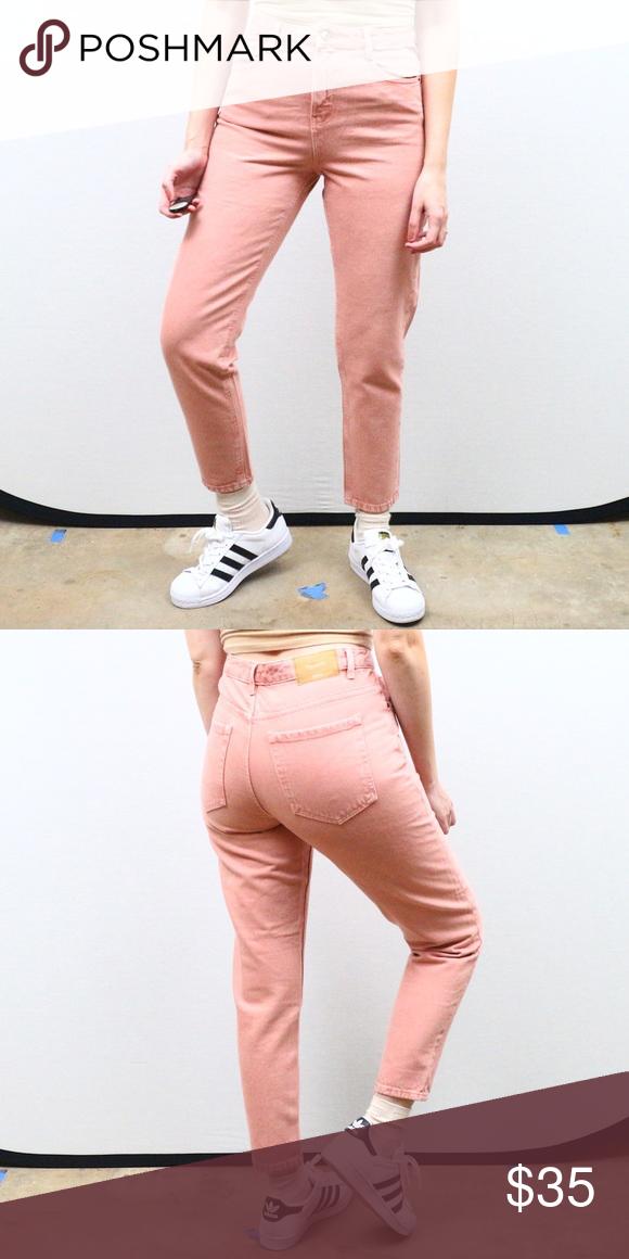 3cc5f010 Zara pink high waisted mom jeans Vintage style high waisted tapered leg  pink mom jeans from