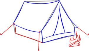 Pin By Patricia Weitzel On Ben S 8th Birthday Tent Drawing Tent Drawings