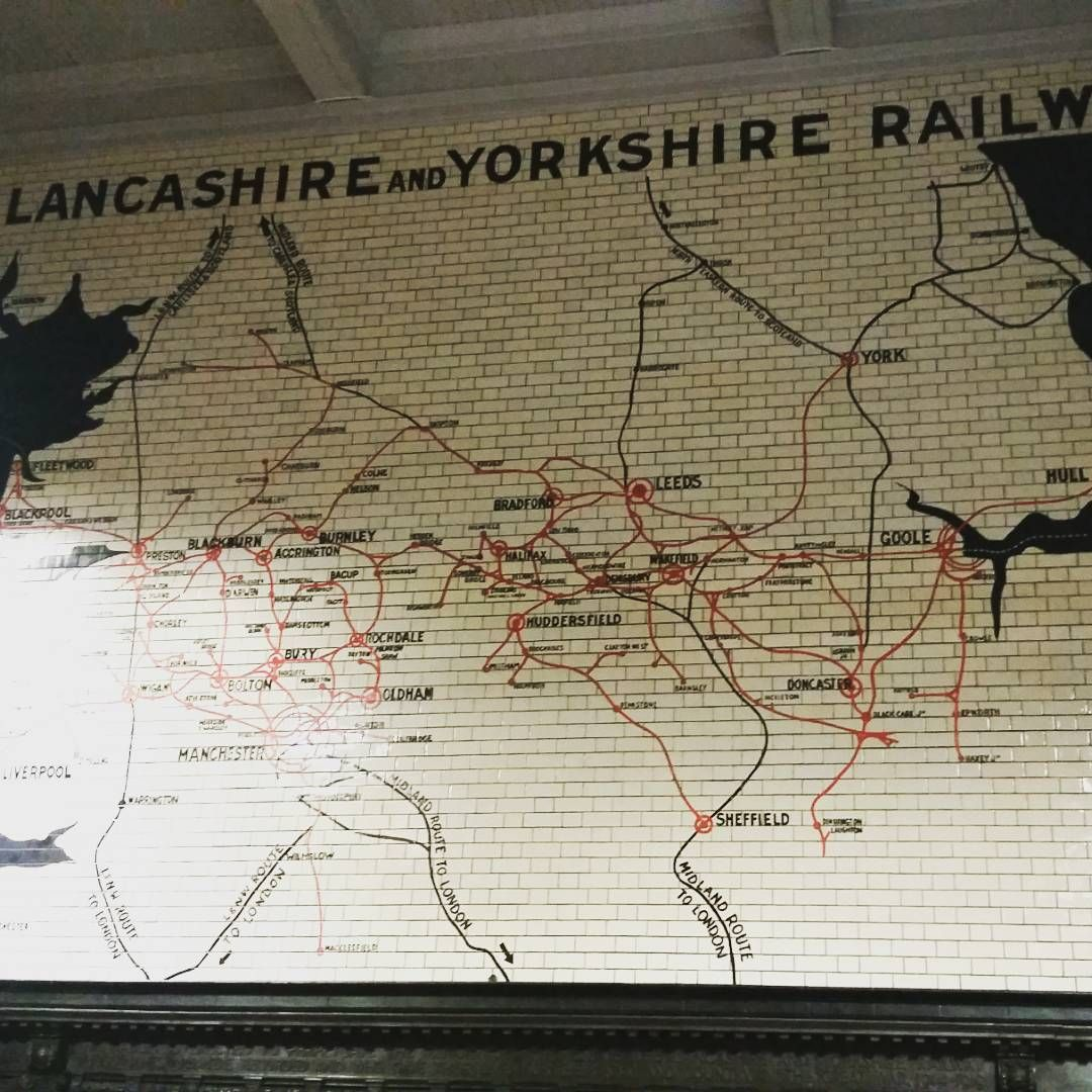 I love this impressive painted brick railway