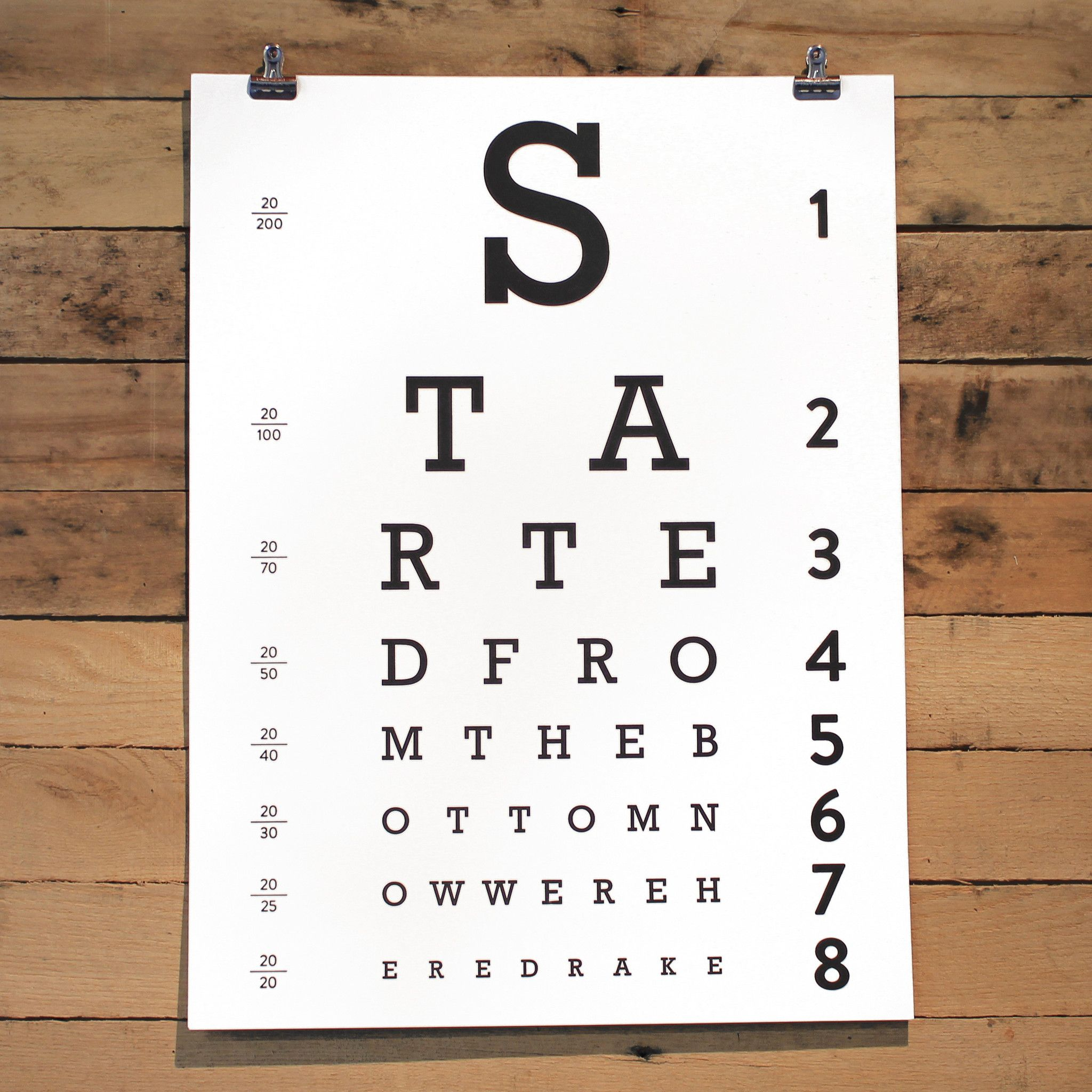 Started From The Bottom Poster Inspirational Posters Eye Chart