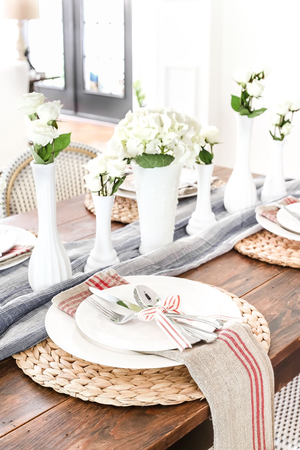 Vintage Patriotic Tablescape & Summer Entertaining Tour