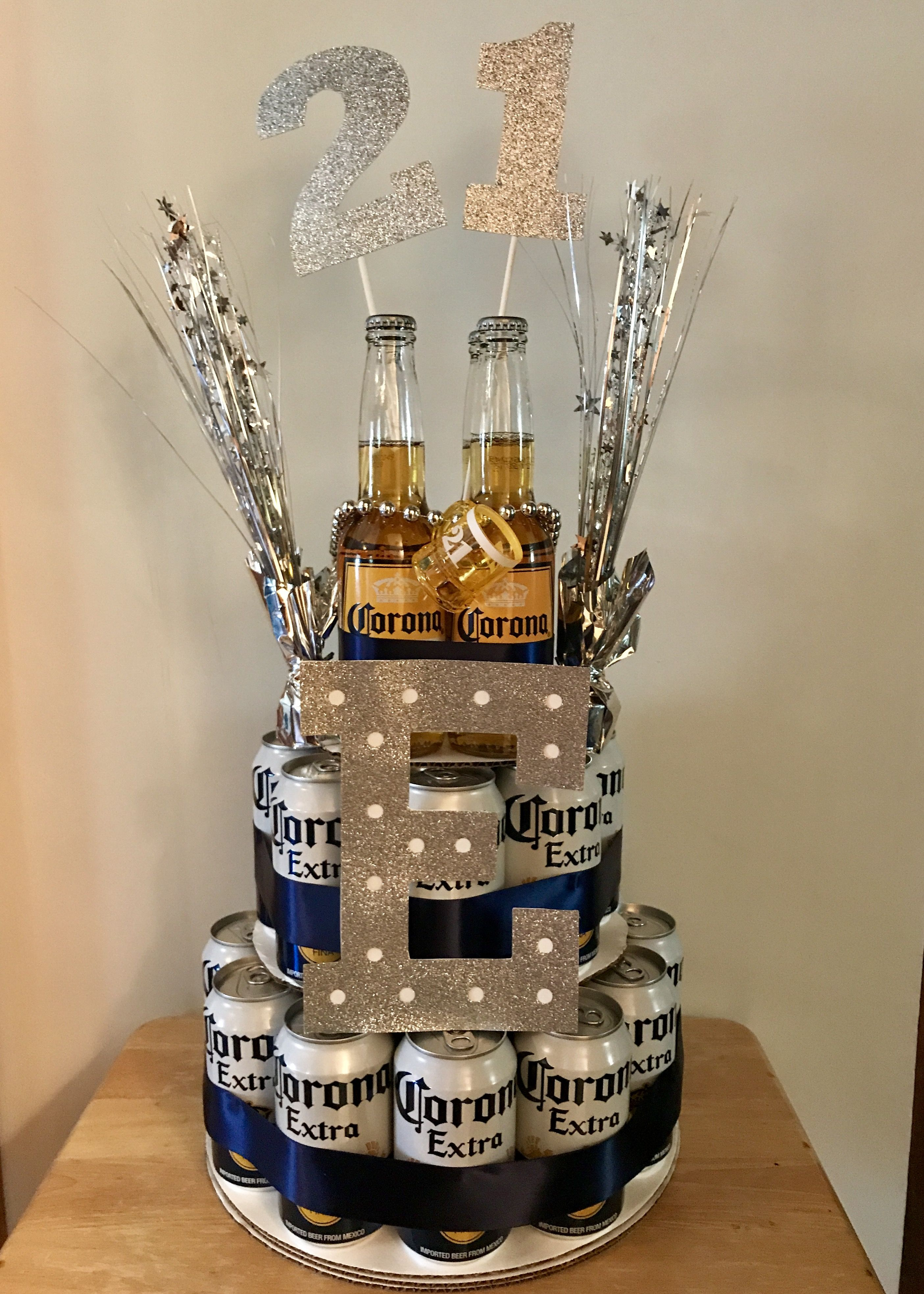 Corona 21st Birthday Beer Cake With Images Birthday Beer Cake