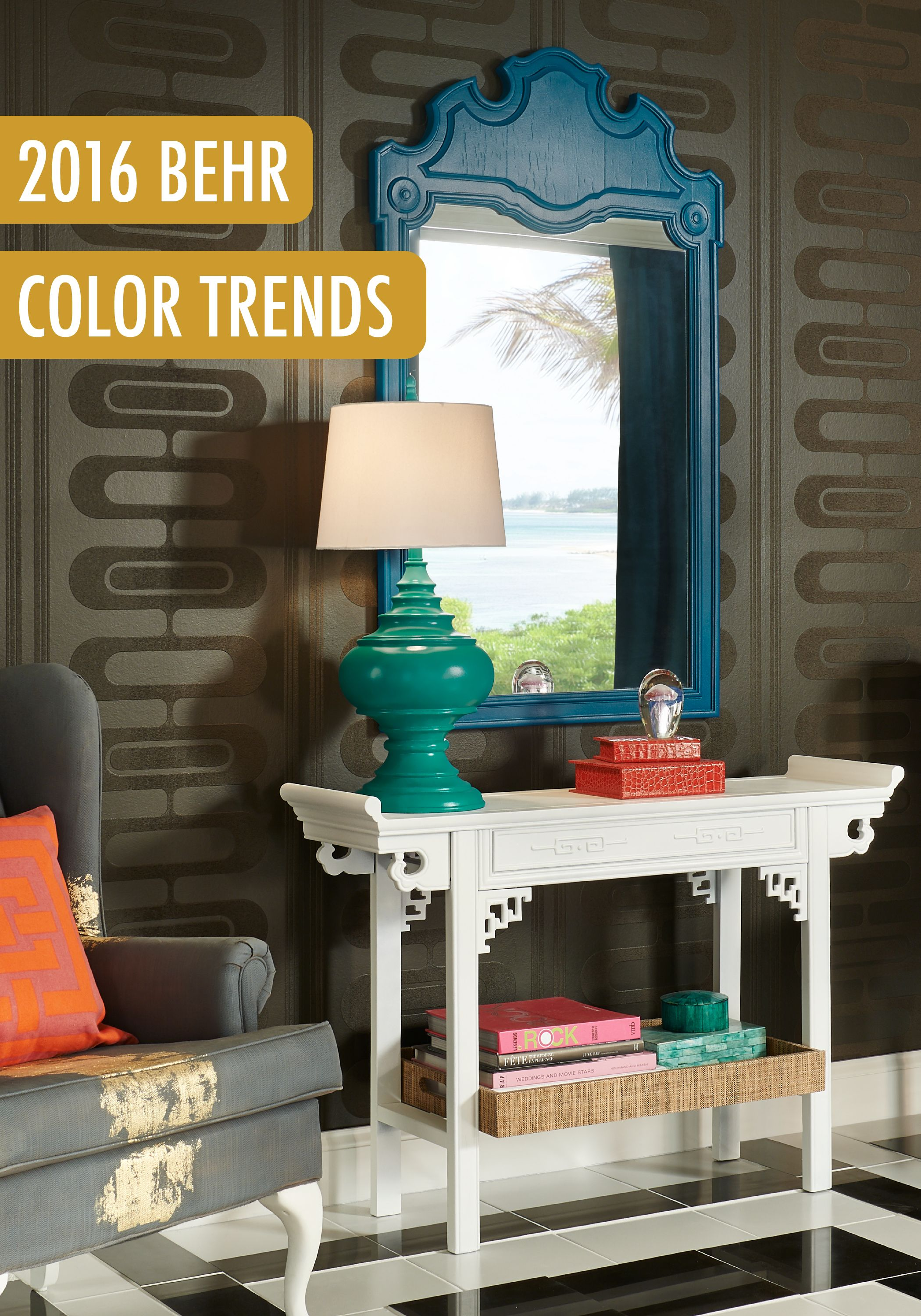Jewel Toned Hues Like Behr Paint In Pagoda, Emperors Silk, And
