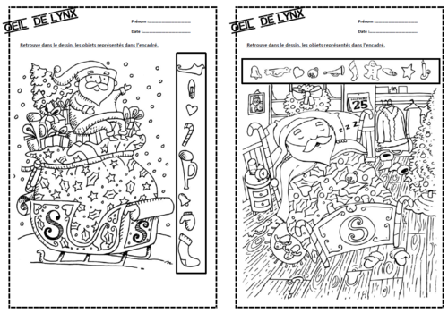 Oeil De Lynx Special Noel Dix Mois Coloriage Magique Noel Ecriture De Noel Lynx