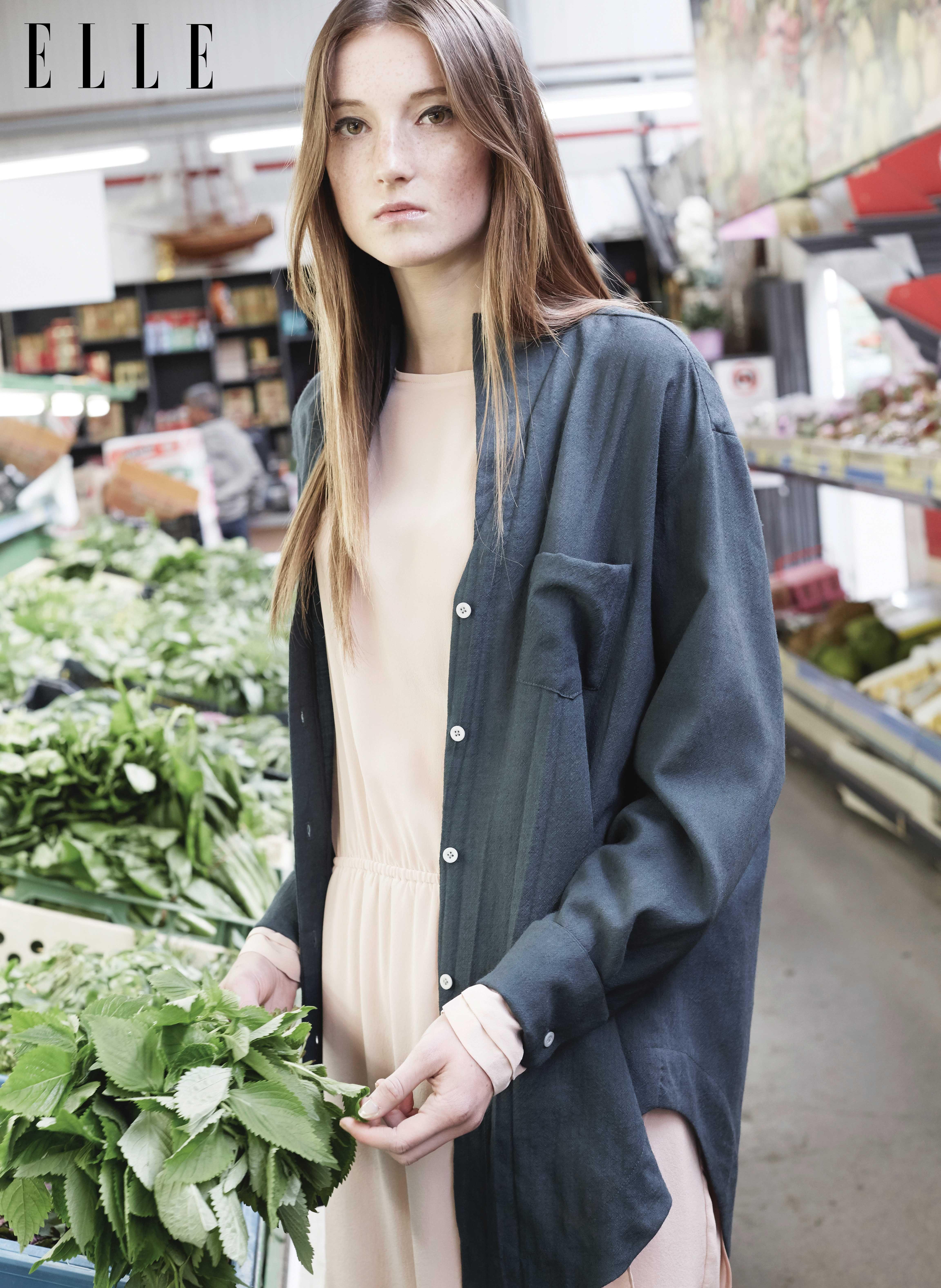 Korean flannel outfits  Đầm Hien Le Áo khoác Perret Schaad  FashionStreet style