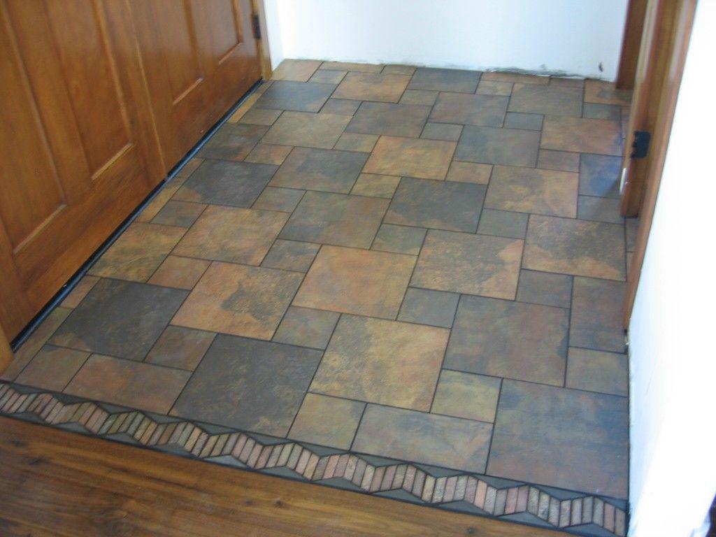 Modified pinwheel design in a tiled entryway. | Home | Pinterest ...