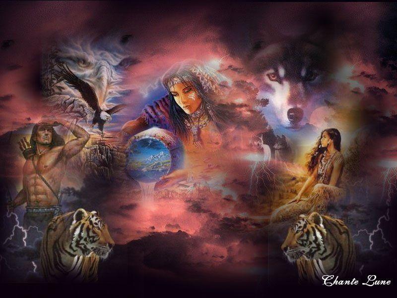 Fonds D Ecran Indiens Et Indiennes Page 12 Native American Wallpaper Native American Art Native American Wolf