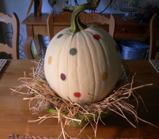 The Painted Pumpkin Painted pumpkins, Pumpkins and Polka dots - halloween arts and crafts decorations