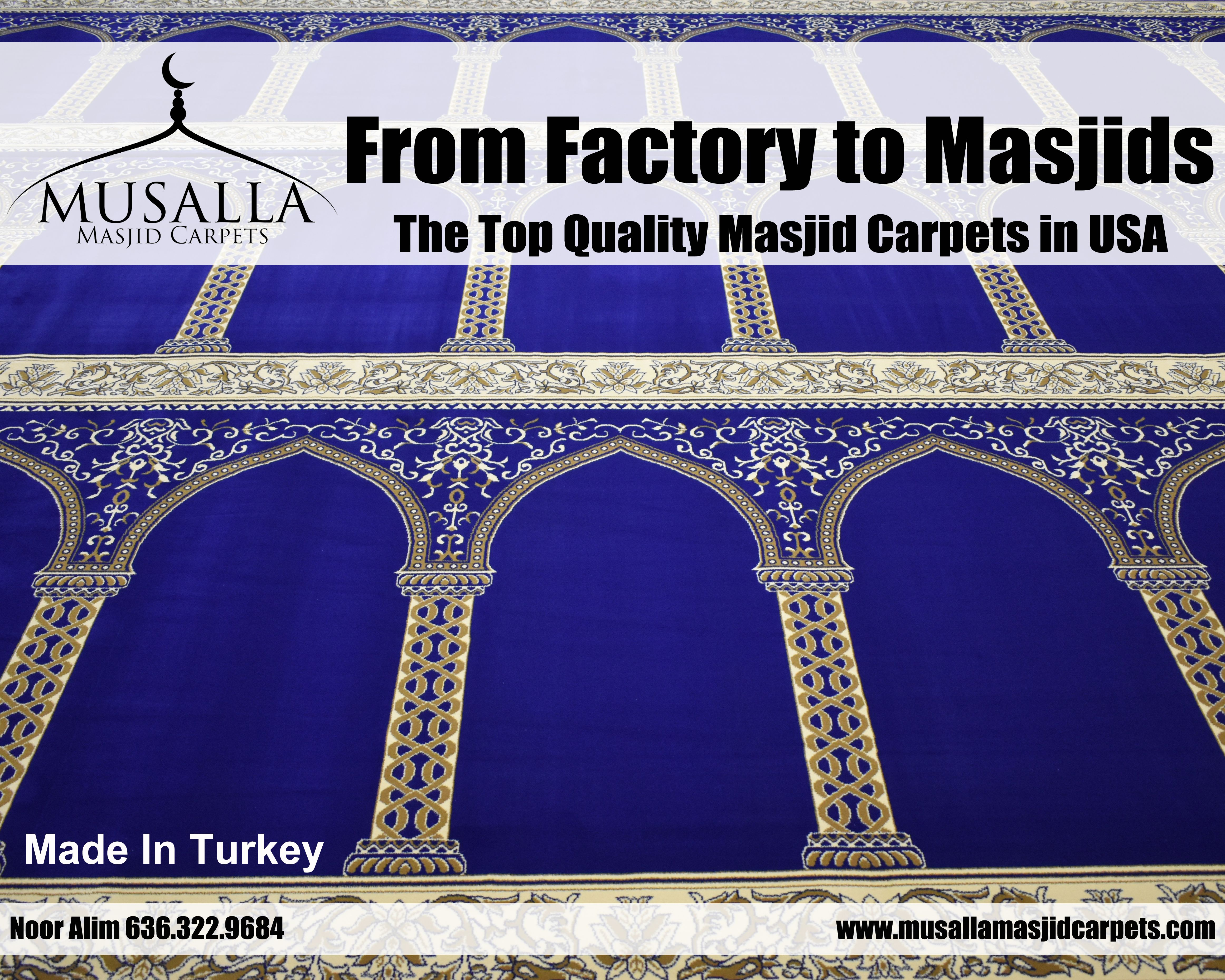 Musalla masjid carpets is manufacturer of the best quality