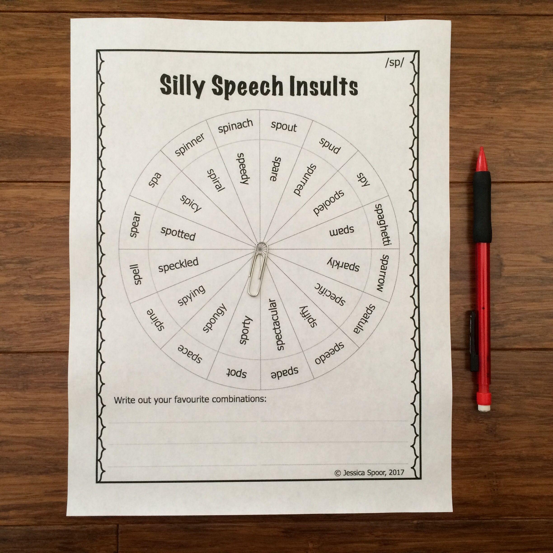 Silly Speech Insults A No Prep Money Saving Bundle