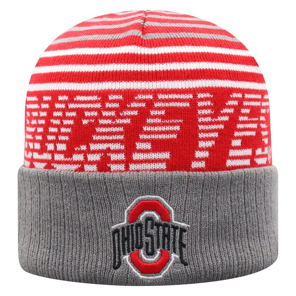 Adult Top of the World Ohio State Buckeyes Array Beanie, Med Grey #ohiostatebuckeyes
