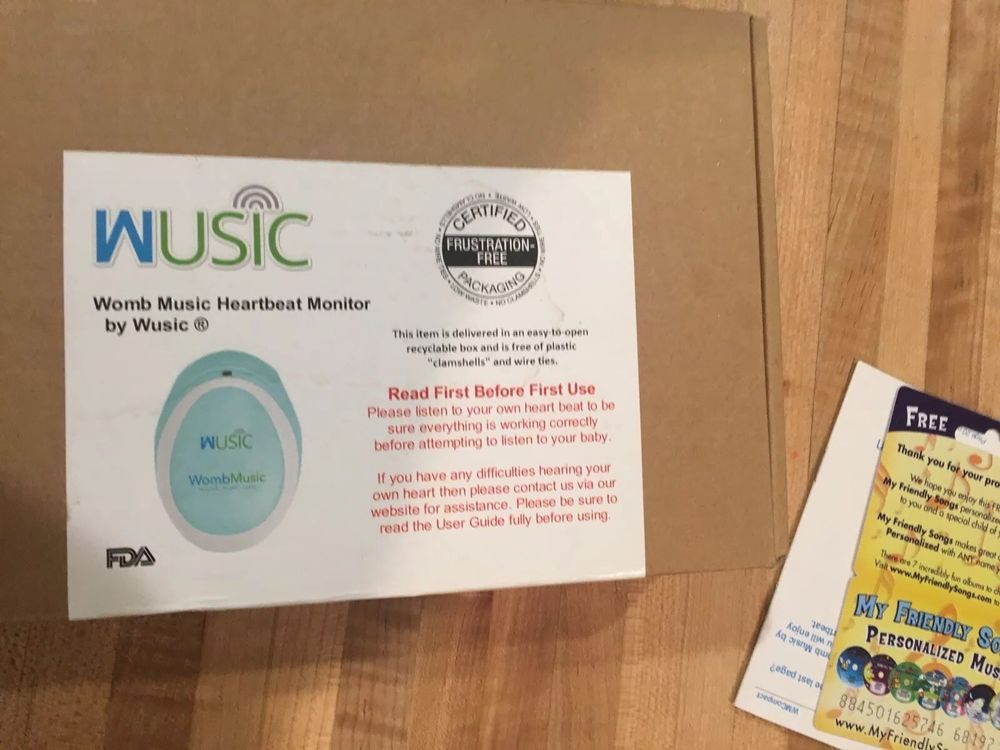 New Womb Music Heartbeat Baby Monitor by Wusic-Listening to the sounds your baby