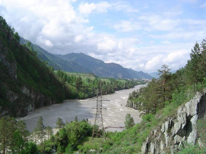 Katun River in the northern Altai Republic, Russia