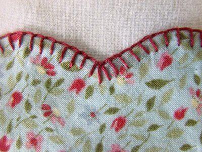De ponto em nó: blanket stitch tutorial