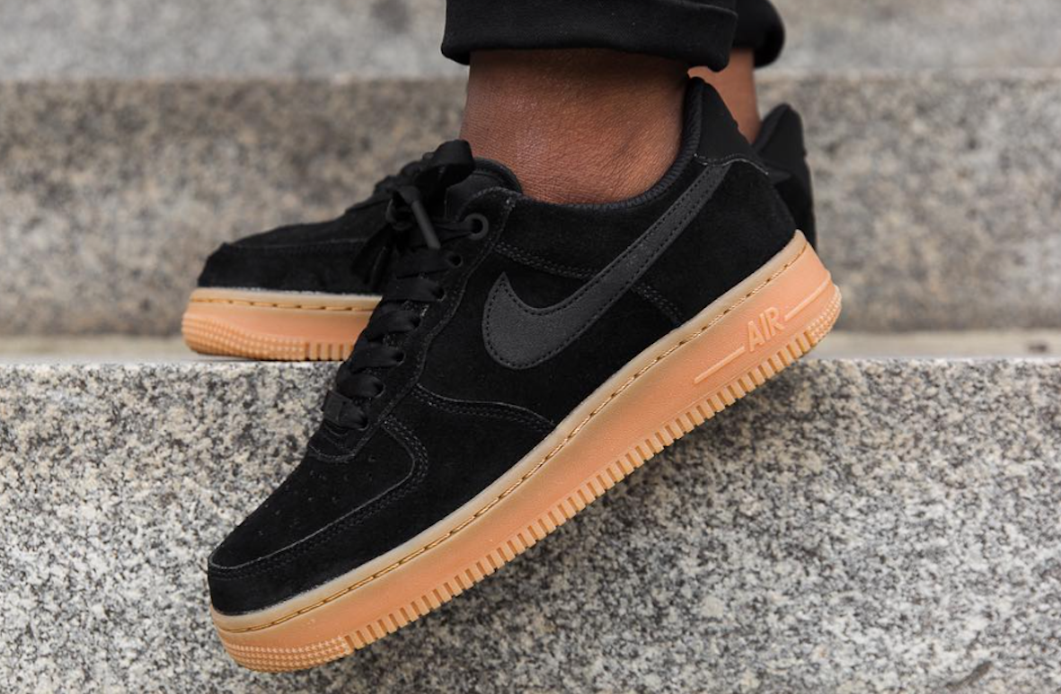 Look For The Nike Air Force 1 Low Black Gum Now Black gums
