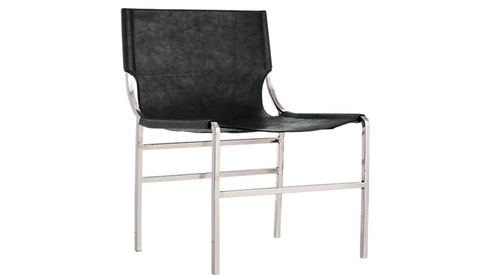 Potter Black Leather Chair Cb2 Black Leather Chair Leather