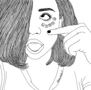 Cute Thoungue Finger Short Hair Outline Outline Art Outline Drawings Couple Drawings Tumblr