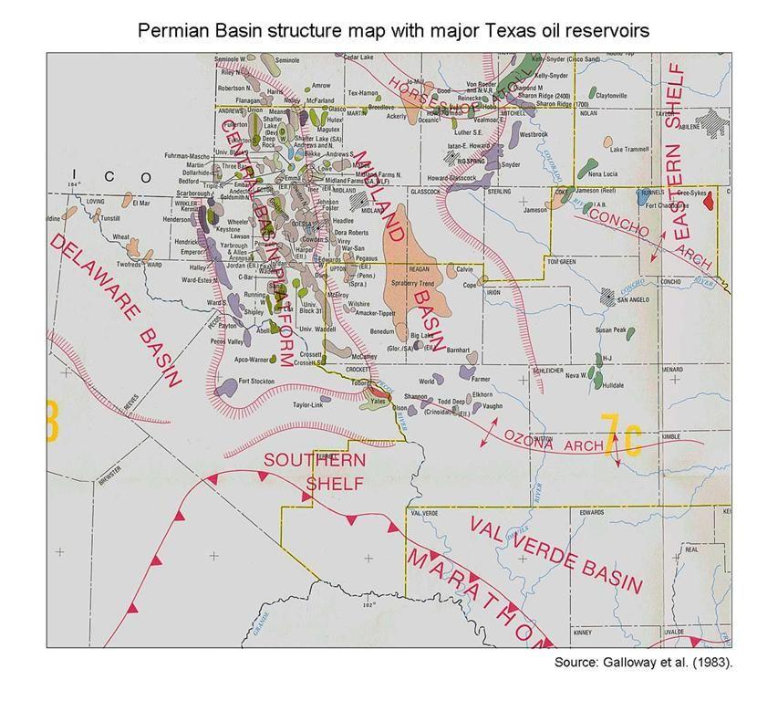 Major Texas oil reserves in the Permian Basin  | Texas / On