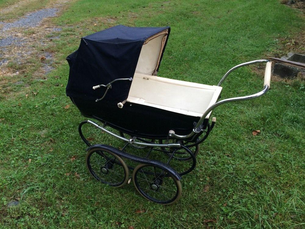 Vintage Silver Cross Blue Baby Pram Carriage Stroller