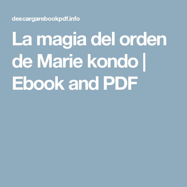 La magia del orden de marie kondo ebook and pdf y yo q for La magia del orden