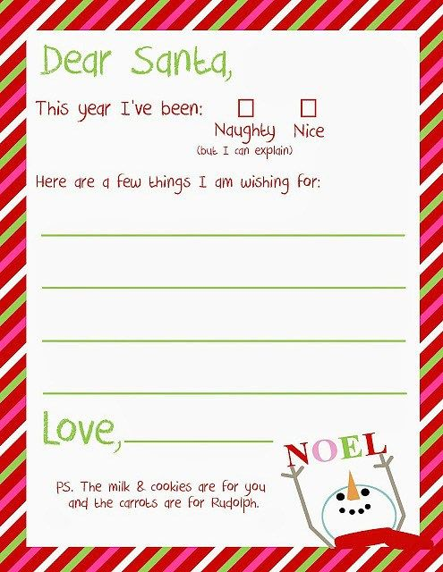 Letters To Santa  Santa Christmas Dear Santa And Santa