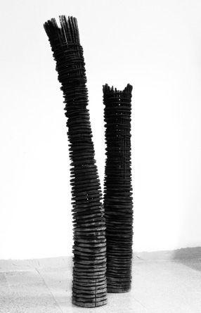 Moderne Holzskulpturen 2 sculptures modern abstract sculpture skulptur