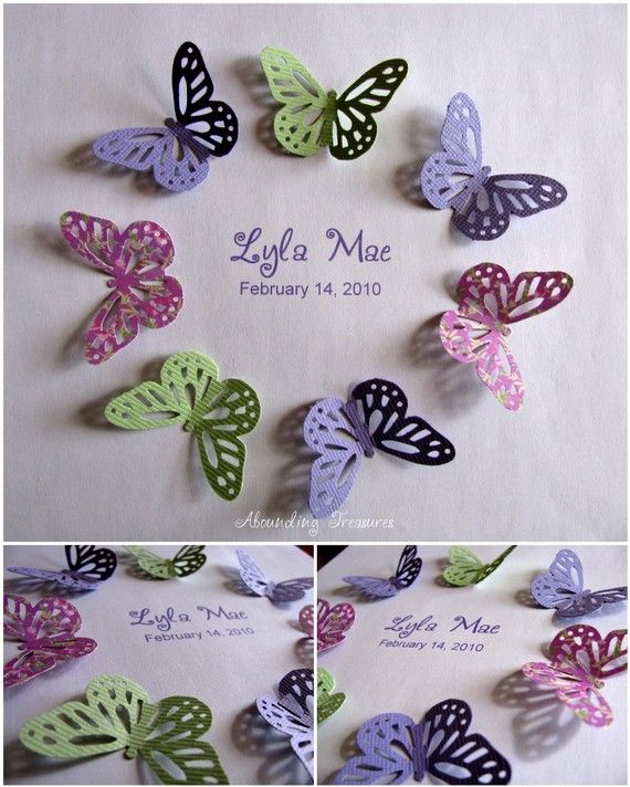 3D Butterfly Circle