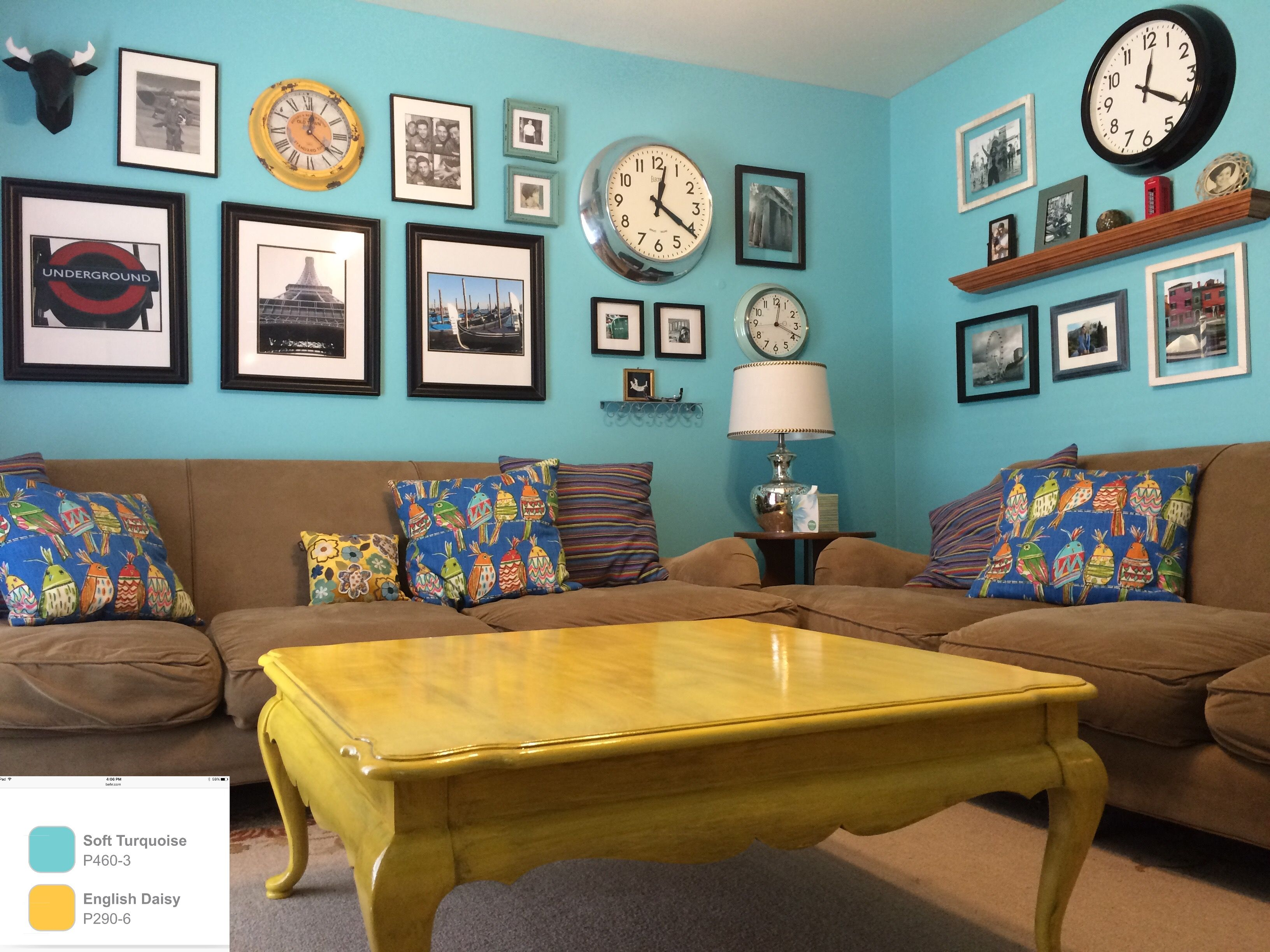 soft teal bedroom paint. Mexican Paint Decor. Behr Soft Turquoise On Walls And English Daisy Yellow Table Distressed Teal Bedroom O