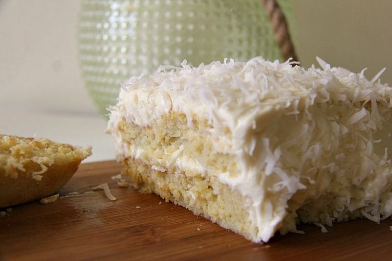 Coconut cake with coconut cream cheese frosting recipe