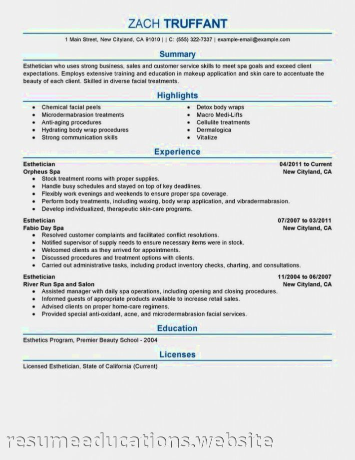 medical aesthetician resume sample medical esthetician resume