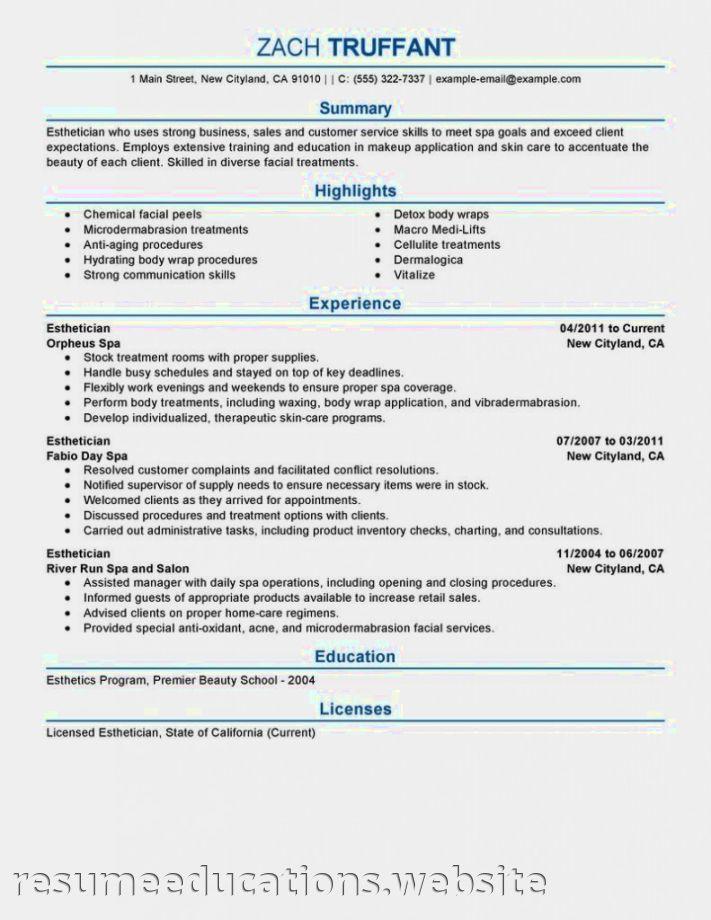 Medical Aesthetician Resume Sample Medical Esthetician Resume Objective Jpg 711 920 Esthetician Resume Resume Examples Esthetician