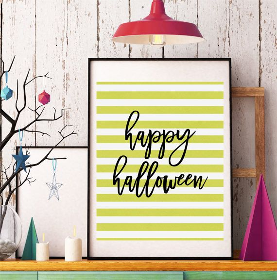 Halloween Printable Decor, Happy Halloween, Halloween Wall Art - halloween design