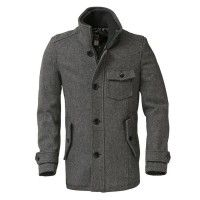 Schott Bros Wool Car Coat DU738 - Oxford Grey